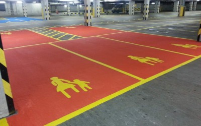 Mother and Child Car Park Markings